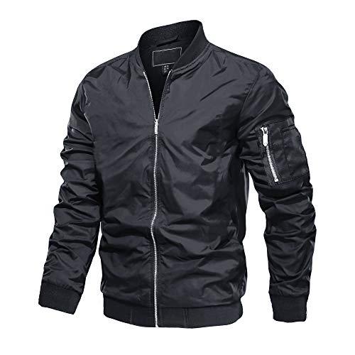 MAGCOMSEN Base-Ball Jacket d'homme Veste Coupe-Vent Veste de Combat Manteau d'hiver Veste Printemps Hiver Blouson MotoVeste Zippée Sport Manches Longues Camouflage