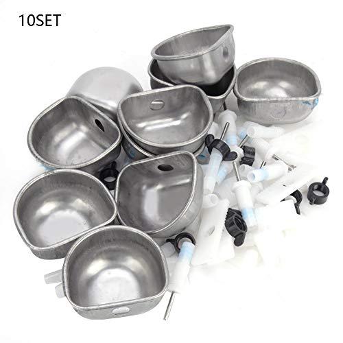 Redxiao Langlebige 10 Sätze Kaninchen Trinkschale, Farmzubehör Kunststoff Material Kaninchen Trinker, Verschleißfestes Mutterkaninchen für Handelskaninchen(Split Tee)