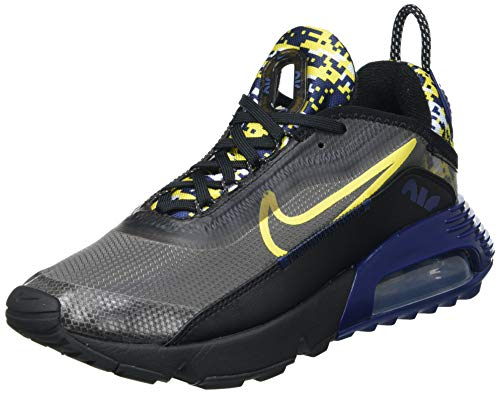 Nike Air MAX 2090, Zapatillas para Correr Hombre, Black/Tour Yellow-Binary Blue, 42 EU