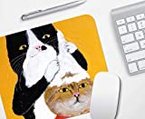 Gaming Mouse Pad, Creative Yellow Bottom Shampoo Kitty, Goma Duradera Antideslizante, Computer Notebook Mouse Pad