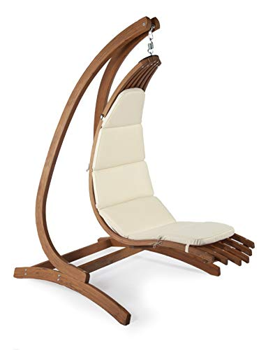 Exaco whlp-ohs exaco the wave lounger chair with optimist stand - set, classic ivory
