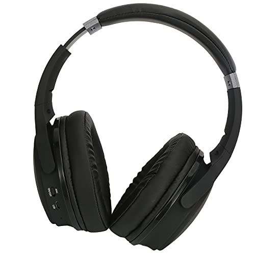 HechoVinen Auriculares Bluetooth sobre la oreja, auriculares inalámbricos con cancelación activa de ruido BT5. 0 inalámbricos plegables con micrófono integrado para teléfono, PC, computadora portátil