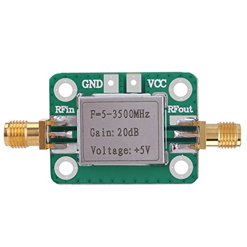 5-3500MHz RF WideBand Amplifier 20dB High Gain Low Noise LNA Amplifier with Shielding Shell