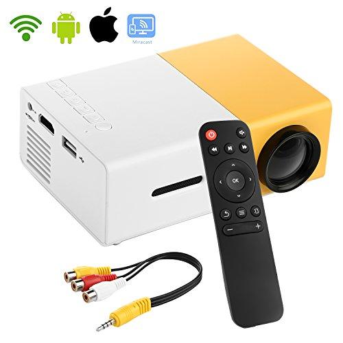 Mini Proiettore WiFi, STOGA YG300 Proiettore (Giallo/ES)