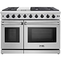 Thor Kitchen Pro-Style 48 inch Gas Range with 6 Burners and Double Ovens (Stainless Steel, LRG4807U)