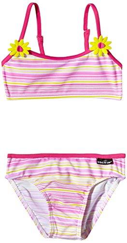 eleMar Mädchen Bikini, Pink-Gelb-Bunt, 116, 4-126-10B