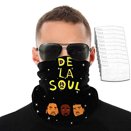 Great Price! D-E L-A So-U-L Neck Gaiter Mouth Cover Bandana with 10activated Carbon Filters Piece