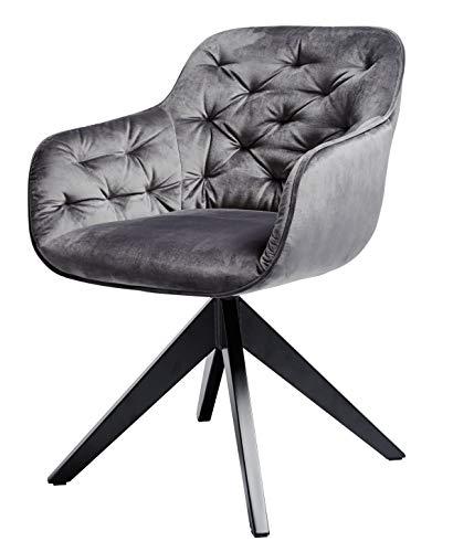 Amazon Marke -Movian Basento - Drehstuhl, 57,5x59,5x80,5cm, Silbergrau