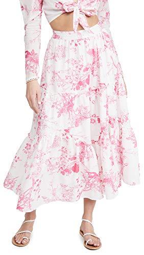 Hemant and Nandita Women's Long Skirt, Pink, Medium