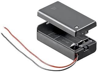 Portapilas para 1 Pila 6LR61 9V con Tapa Negro, Cablepelado