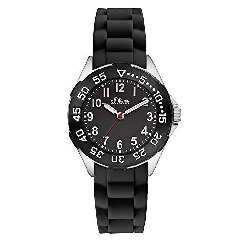s.Oliver Jungen-Armbanduhr Analog Quarz Silikon SO-2526-PQ