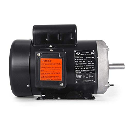 Mophorn 1.5 Hp Electric Motor Rated Speed 3450 RPM Single Phase Motor AC 115V 230V Air Compressor Motor Suit for Agricultural Machinery and General Equipment