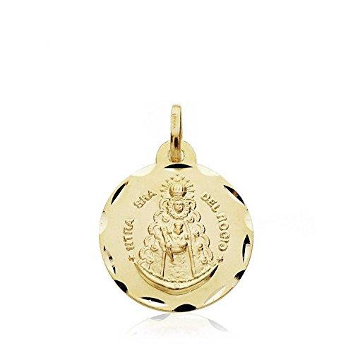 Medalla Oro 18K Virgen Del Rocío Virgen Cinta 18mm. [Ab2993]