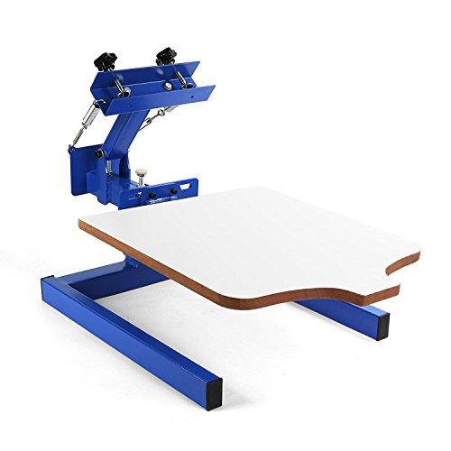 BuoQua Screen Printing Machine 1 Farbe 1 Station Siebdruckmaschine Single Rotary Siebdruck für DIY Shirt Metall Papier Glas usw.(1 Farbe 1 Station)