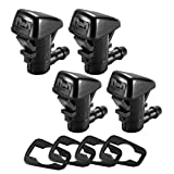 4 Pack Windshield Washer Nozzles for Grand Cherokee(2005-2016),Chevy Malibu(2005-2013),Pontiac G6 (2005-2010),Saturn Aura(2007-2010),Replacement for 55372143AB,55156427AB,55079049AA