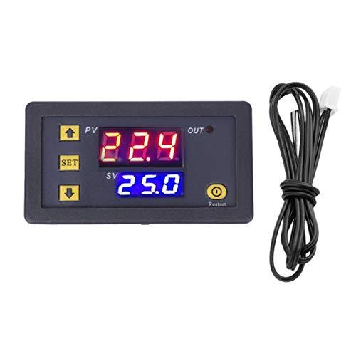 Adaskala Controlador de temperatura 3230 Pantalla digital Módulo de termostato Interruptor de control de temperatura Micro calentamiento Panel de control de temperatura de enfriamiento