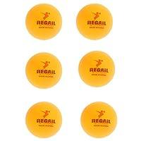 6個セット 卓球 ボール ピンポンボール 40mm トレーニングボール 公式球 黄