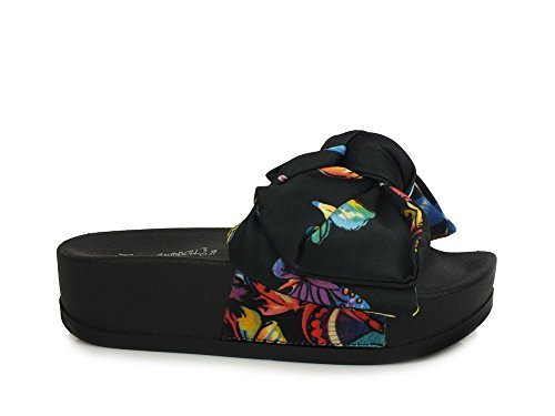 Jeffrey Campbell, Damen Clogs & Pantoletten Schwarz Black Butterfly, Schwarz - Schwarz - Größe: 37 EU