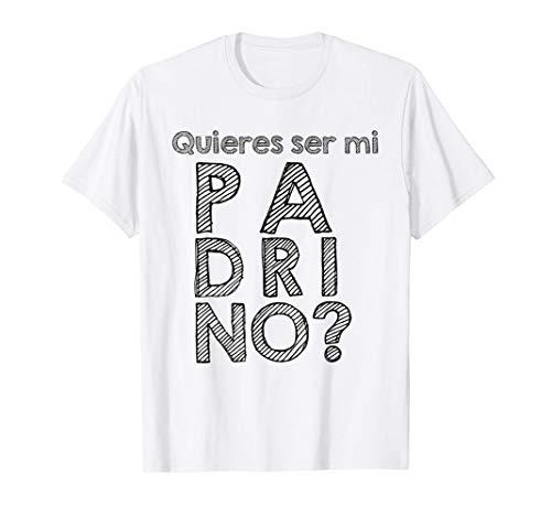 "Bautizo o primera comunión ""¿Quieres ser mi padrino?"" Camiseta"