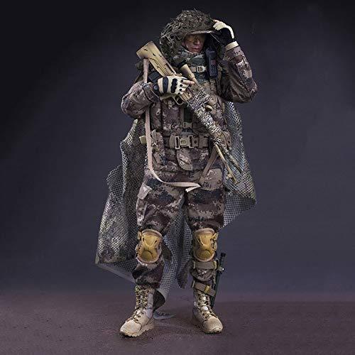 XKS 1/6 Lobo De Guerra del Ejército Figuras De Acción 12' Cuerpo Completo De Silicona Realista Super Flexible Figura Muñeca Juego Completo Juguete Modelo para Regalos Navideños