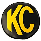 KC HiLiTES 5802 8'' Round Black with Yellow KC Soft Light Covers - Pair'