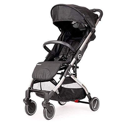 MAMINGBO Cochecito de bebé for recién nacidos y niños pequeños, Cochecito de cuna liviano Cochecito de viaje portátil for bebés (Color : Gris)