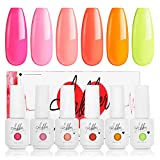 Best Coral Nail Polishes - Aikker Gel Nail Polish 6 Colours Set UV Review