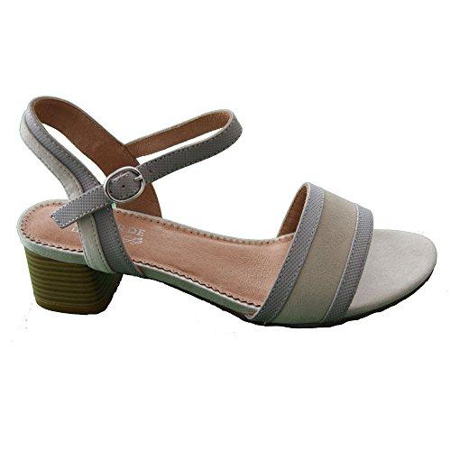 Regarde Le Ciel cadice 08 Damas Sandalia Moderna Grey/Beige 39