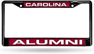 Rico Industries NCAA Alumni Laser Cut Inlaid Standard Chrome License Plate Frame, Black