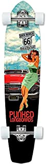 Yocaher Punked Route 66 Series RTE 66 Longboard Complete Skateboard - Available in All Shapes (Slimkick)