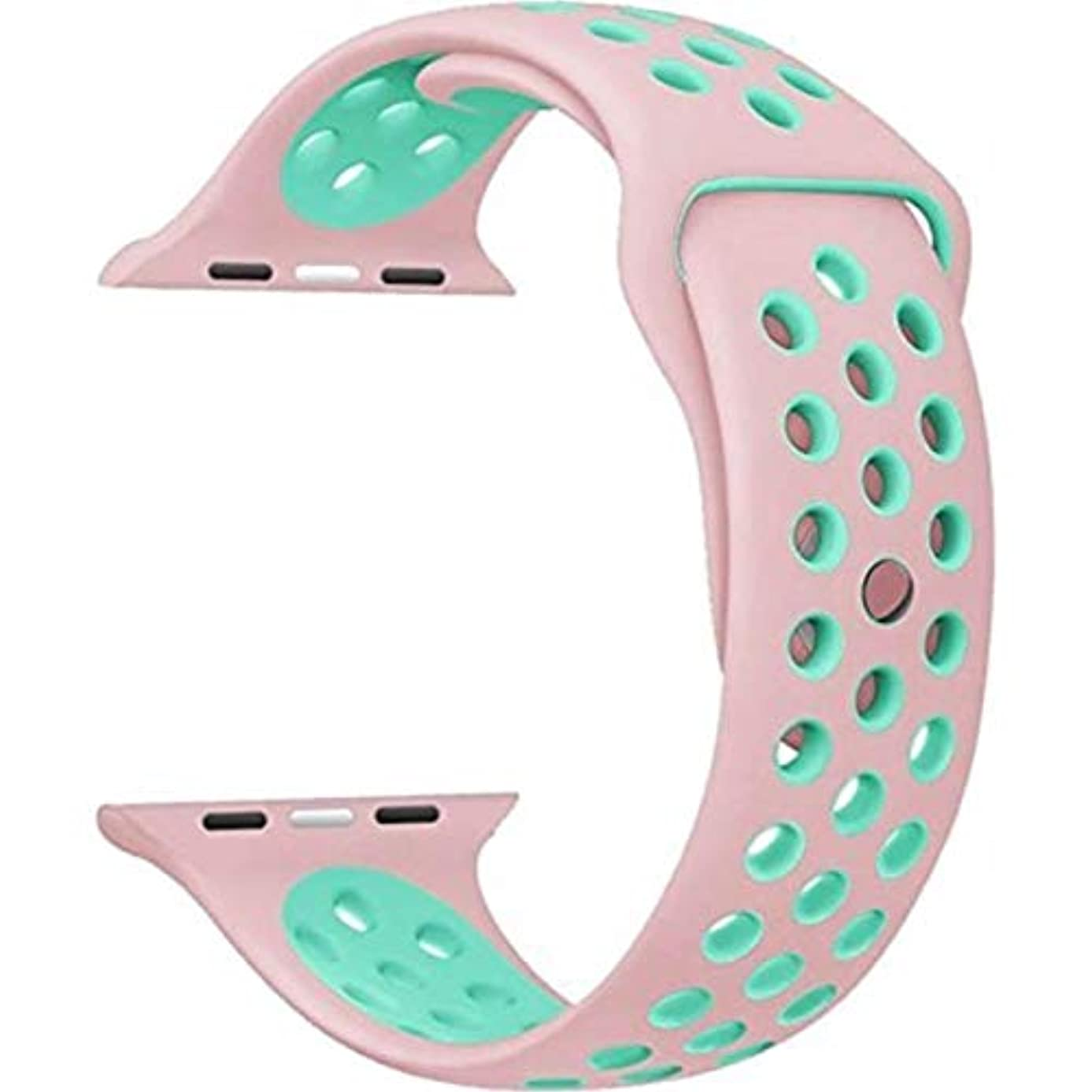 ディスク保険をかける倉庫Apple Watch スポーツバンド 高級シリコーンベルト Apple Watch Series 4 / Series 3 Series 2 に向け 専用スポーツバンド さわやかな色 通気 水洗い可 Apple Watch 人気スポーツバンド (44mm/42mm,5)