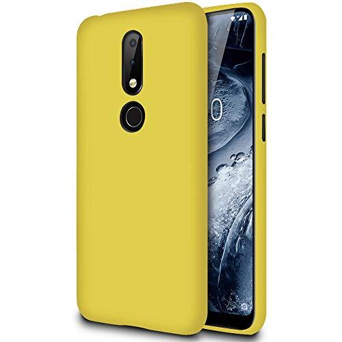 Slim Hülle für Nokia 6.1 Plus (Nokia X6)   Unifarben Tasche in Gelb