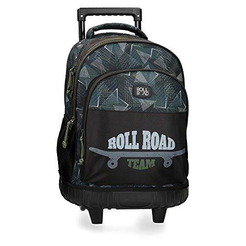 Roll Road Team Mochila 2 Ruedas Negro 32x45x21 cms Poliéster 34.27L