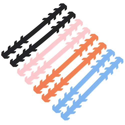 Healifty Maskenverlängerungsgurt Weicher Maskenschnallenohrschutzhaken für Den Täglichen Gebrauch 8St. (Schwarz + Blau + Pink + Orange)