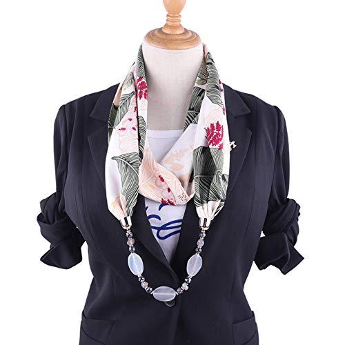 DAIDAIWLH Anhänger Halskette Schal für Frauen Shell Style Alloy Hijab Damenzubehör