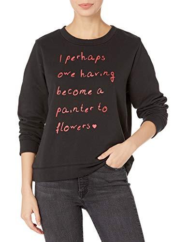 Dear Drew by Drew Barrymore Women's Broome St Long Sleeve Crew Neck Sweatshirt, Monet Tap Shoe Combo, XS