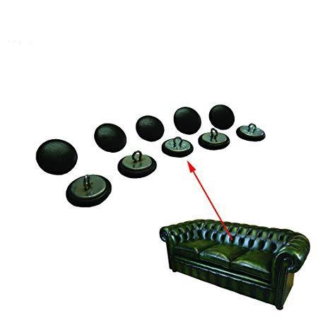 10x 20mm bottoni Chesterfield in pelle verde con filo schienali per tradizionale Deep Button Chesterfield tappezzeria, divani, sedie, sgabelli fatti a mano in Inghilterra–Finitura anticata
