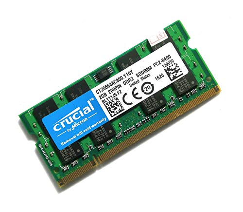 Crucial ノートPC 増設メモリ PC2-6400 DDR2 800mhz 2GB 200pin SO-DIMM [並行輸入]