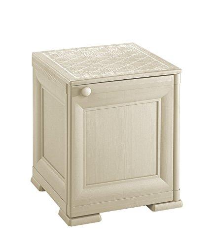 Tontarelli 8085562210 Omnimodus kist/nachtkastje, volledige deur, kunststof, crèmekleurig