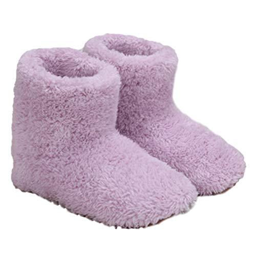 Phayee Scaldapiedi Elettrico, 1 Paio Uomo/Donna Stivaletti riscaldati Pantofola Ricarica USB Scarpe da Riscaldamento Scarpe più Calde, per Ufficio Invernale, Casa