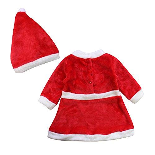 Le SSara Bebé Invierno Navidad Cosplay Vestido Traje recién Traje Sombrero 2pcs (6-12 Meses)