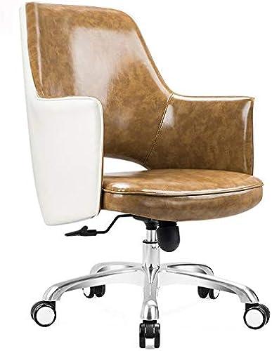 Byx- Chaise pivotante - Chaise américaine de Loisirs Chaise de Bar Chaise de négociation Chaise de Bureau Nordique à la Maison Chaise d'ordinateur Chaise de Bureau Chaise en Cuir -Chaise pivotante