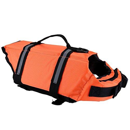 Toruiwa 1X Hund Schwimmweste Schwimmtraining Hundeweste Rettungsweste für Hunde Haustier Orange L