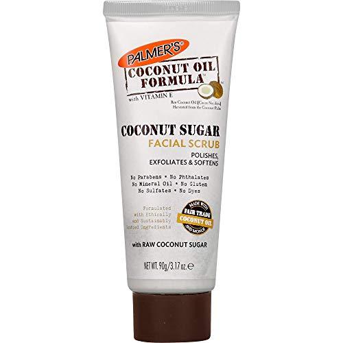 Palmer's Coconut Oil Formula Coconut Sugar Facial Scrub Exfoliator, 3.17 Ounces
