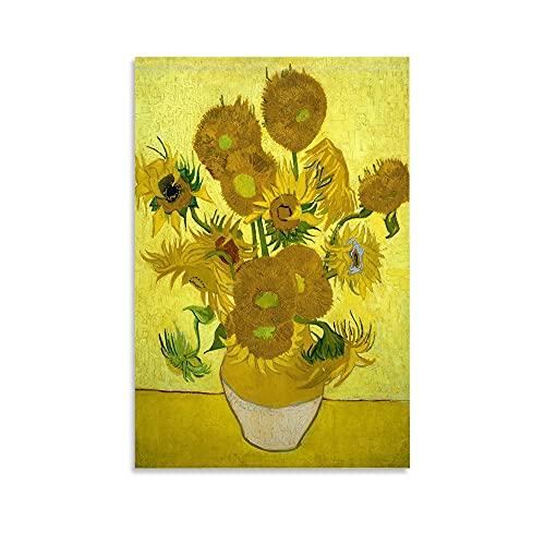 Poster di Vincent Van Gogh Chrysanthemum su tela e stampa artistica da parete, 30 x 45 cm
