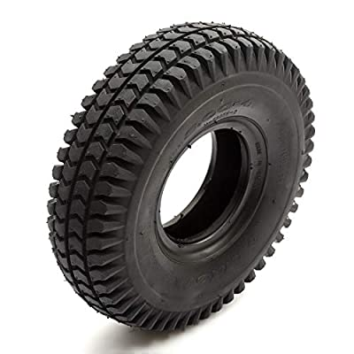 Tyre 260x85 Black Knobbly Block Tread Fits Mobility Scooter 4 Inch Wheel Rim 4 Ply