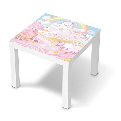 creatisto Möbel-Folie für Kinder - passend für IKEA Lack Tisch 55x55 cm I Tolle Möbelfolie für Kinder-Möbel Deko I Design: Candyland
