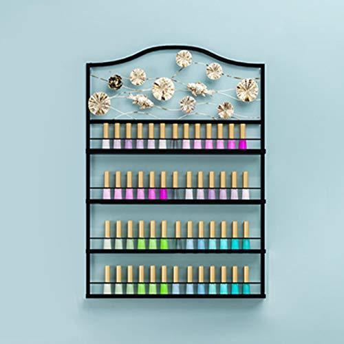 Soporte Pared Metal para Esmalte Uñas para Mostrador, Estante Esmalte Uñas Estante Aceite Esencial Diy, Perfume Estantes Exhibición del Organizador Cosmético del Brillo de Labios, Para Casa o Tienda