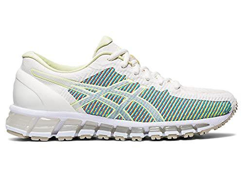 ASICS Zapatillas de running Gel-Quantum 360 cm para mujer, blanco (Crema/Amarillo Huddle), 40 EU