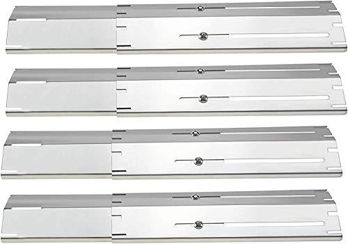 Denmay Universal Verstellbarer SUS304 von 30 bis 53 cm Aromaschienen für Brinkmann, Charbroil, ProfiCook, Campingaz, Landmann Gasgrill Flavorizer Bars, Brennerabdeckung, Heizplatte (4 Packung)